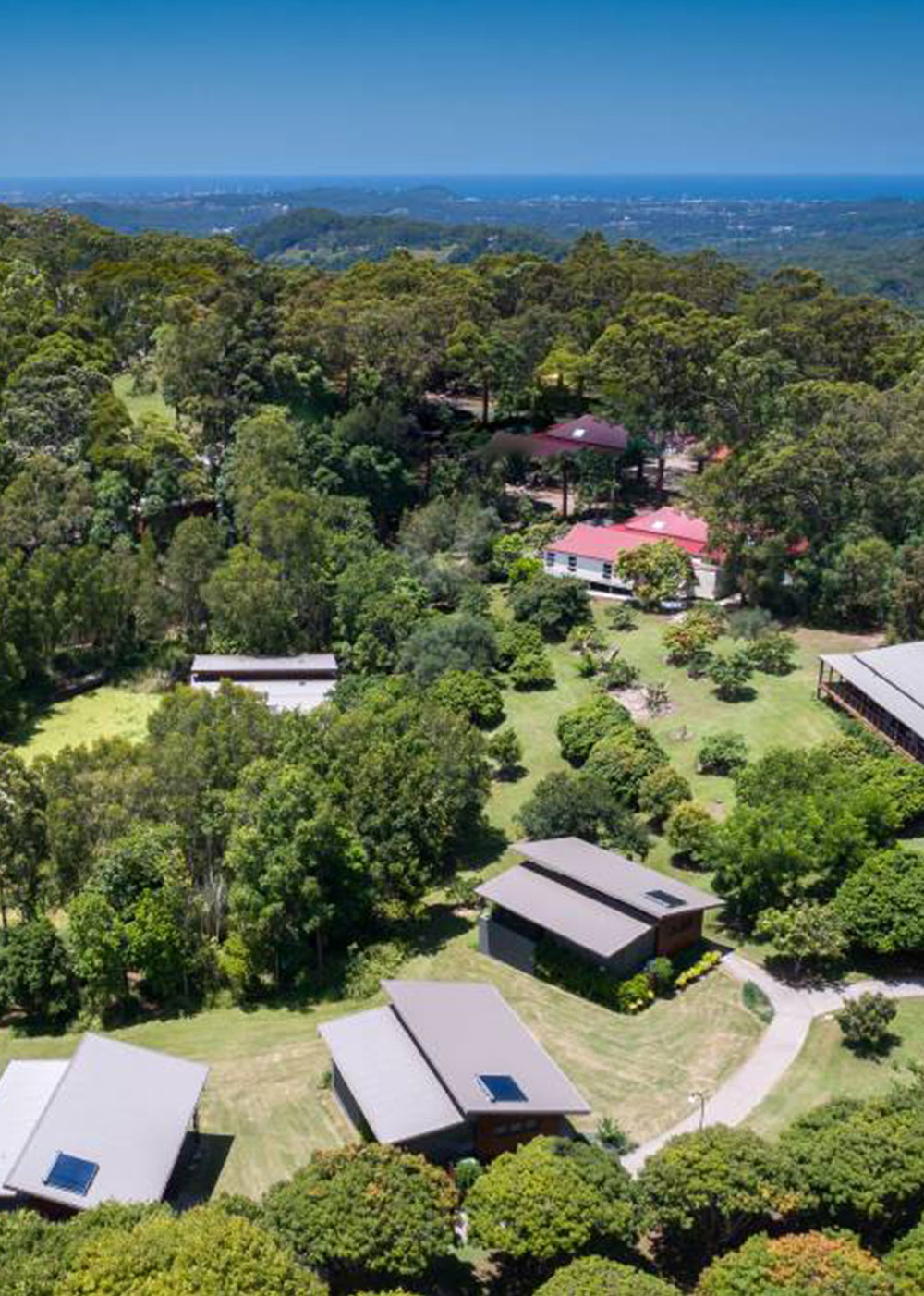 Aeiral view of Hugh Jackman's retreat